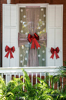 Ian Monk - Decorated Christmas Window Key West