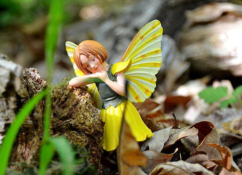 Deep in Thought Woodland Fairies by Linda Rae Cuthbertson