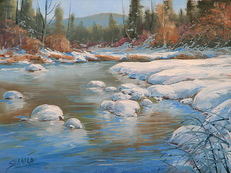 Deep  Into Winter by Kenneth Shanika