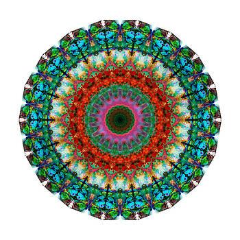 Sharon Cummings - Deep Love - Mandala Art By Sharon Cummings