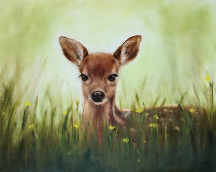 Deer Art Print by Junko Van Norman