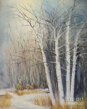 Deer at the Tree Line by Steve Knapp