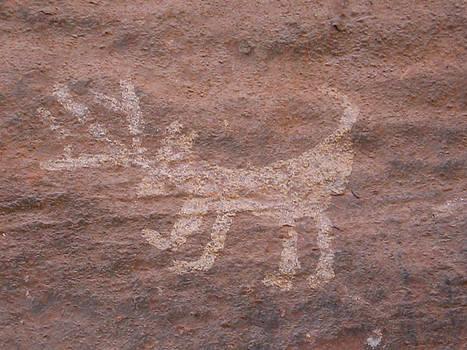 Deer Glyph by Curtis Jones