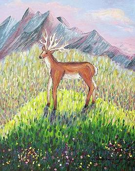 Suzanne  Marie Leclair - Deer In Field