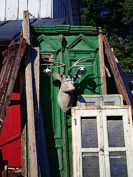 Deer on a Door by Rebecca Smith