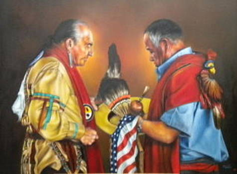 Defended Our Country  by Mahto Hogue