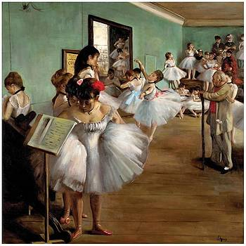 Degas Copy of The Dance Class  by J Nance