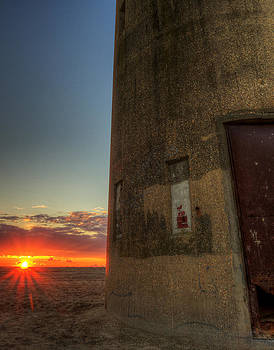 Delaware lookout Tower Sunrise by David Dufresne
