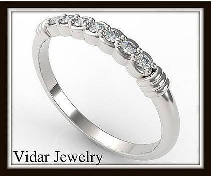 Delicate 14k White Gold Diamond Women Wedding Ring by Roi Avidar