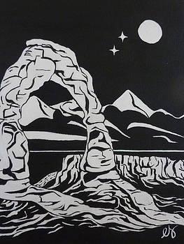 Estephy Sabin Figueroa - Delicate Arch by Night