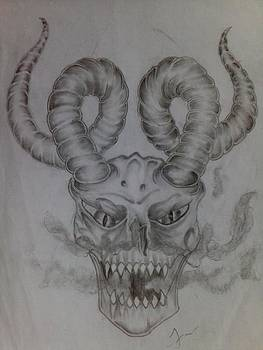 Demon Skull by Filiberto Garcia