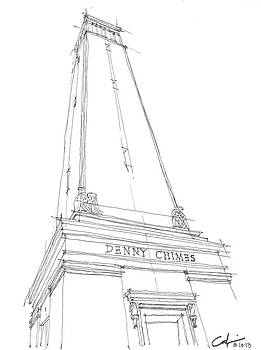 Denny Chimes Sketch by Calvin Durham