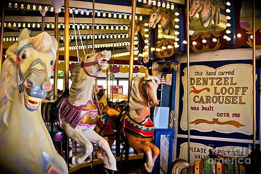 Dentzel Looff Antique Carousel  by Colleen Kammerer