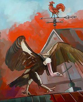Der rote Hahn by Carmen Stanescu Kutzelnig