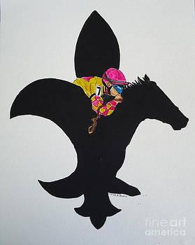 Derby Fleur de Lis by Carole Powell