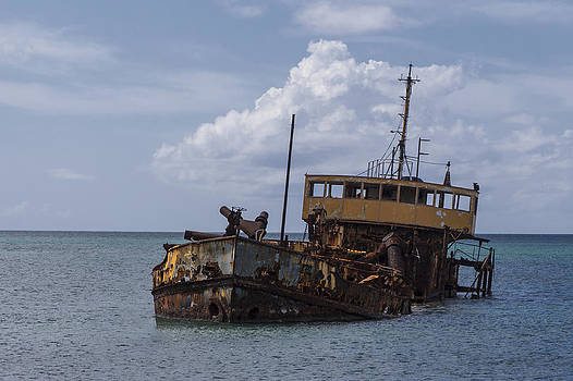 Derelict Dredger by David Gleeson