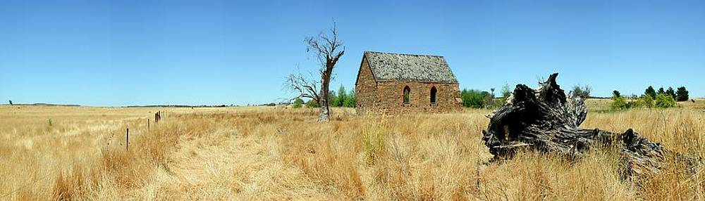 Derilict Church - Barton Highway by Douglas Jones