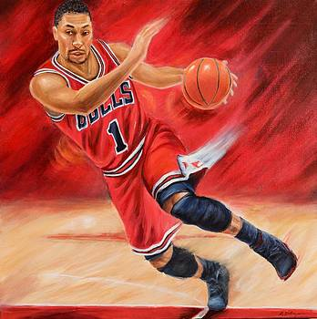 Derrick Rose by Angie Villegas