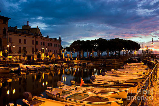 Desenzano Del Garda marina in the early morning. by Kiril Stanchev