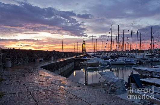 Desenzano Del Garda Marina waterfront and the Lighthouse by Kiril Stanchev