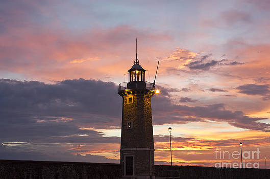 Desenzano Del Garda the old harbor Lighthouse by Kiril Stanchev