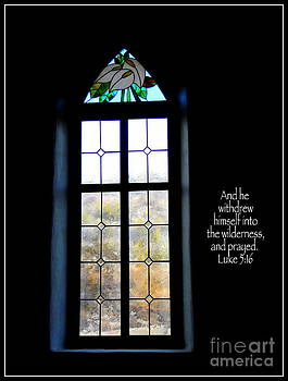 Desert Church Window with Scripture by Avis  Noelle