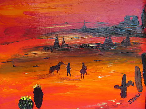 Desert Sunset by Susan Voidets