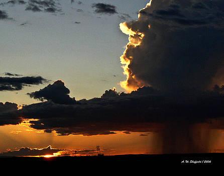 Allen Sheffield - Desert Thunderstorm - Marfa Texas