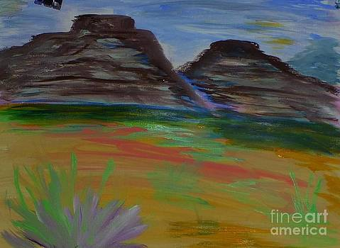 Desert wit Plateaus  by Marie Bulger