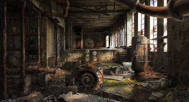 Deserted Factory by Virginia Palomeque