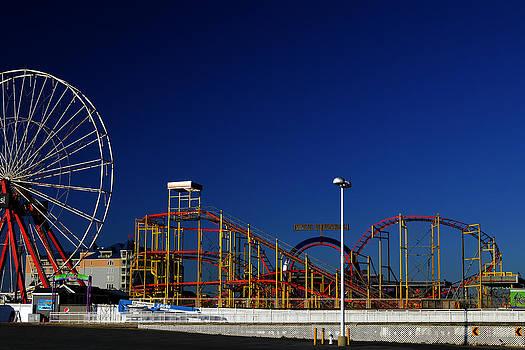 Bill Swartwout Fine Art Photography - Deserted Ocean City Amusement Pier Blue Sky