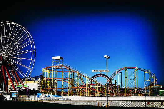 Bill Swartwout Fine Art Photography - Deserted Ocean City Amusement Pier Rembrandt