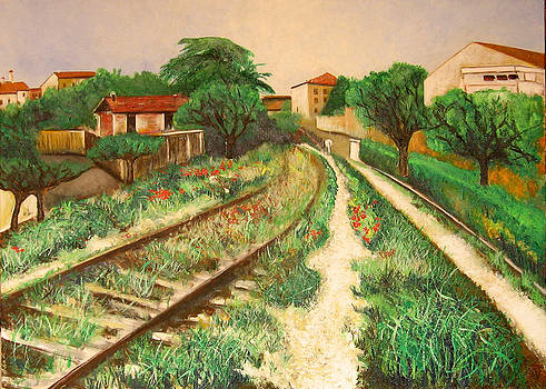 Deserted railway by Vladimir Kezerashvili