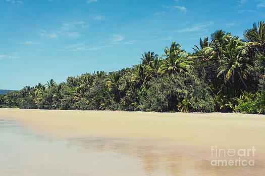 Deserted Tropical Beach by Gillian Vann