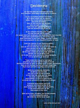 Desiderata on Blue by Leena Pekkalainen