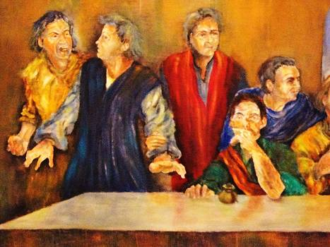 Detail Of Last Supper by Dagmar Helbig