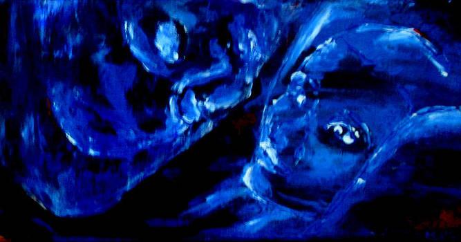 Kathy Peltomaa Lewis - Detail of Seeking Sleep-2