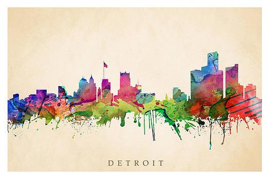 Detroit Cityscape by Steve Will