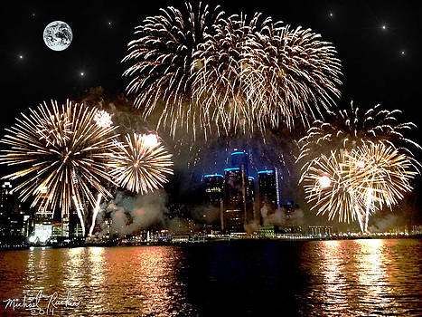 Detroit Fireworks by Michael Rucker