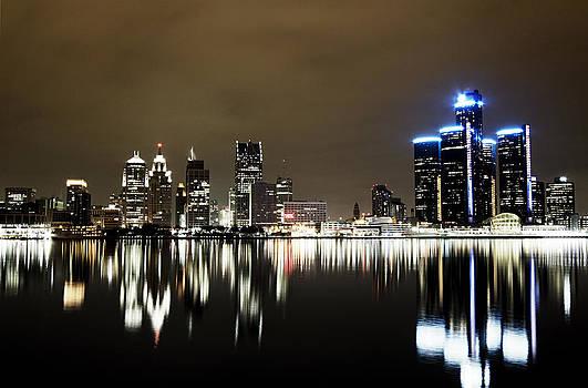 Detroit Night Skyline by Alanna Pfeffer