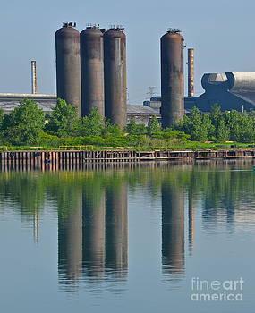 Detroit River Reflections 2 by Jason Layden