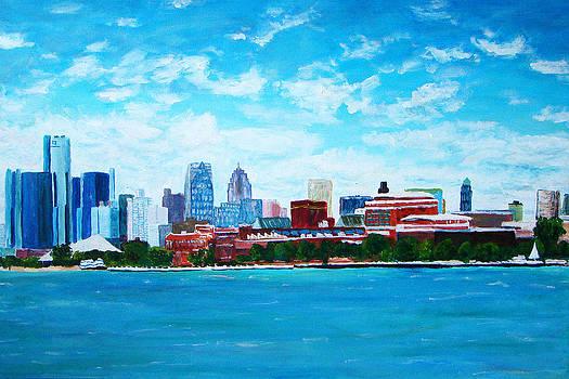 Detroit Skyline 2 by Suzanne Johnson