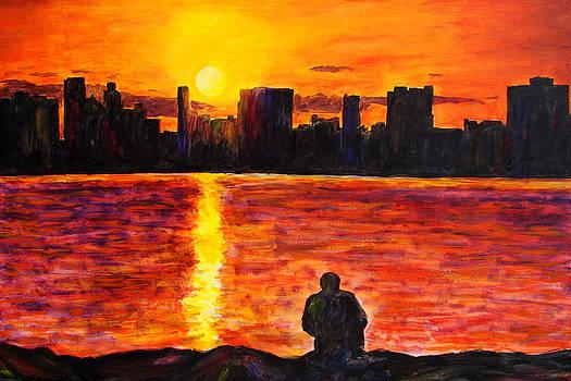 Detroit Skyline  by Suzanne Johnson