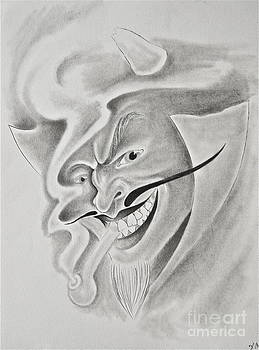 Devil with  Pipe by Photos by Staci Art by Douglas