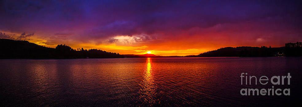 Dexter Lake Oregon Sunset 2 by Michael Cross