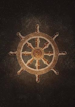 Dharma Wheel by Joanna Kleczar
