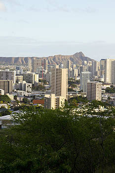 Diamond Head and Honolulu by Ashlee Meyer