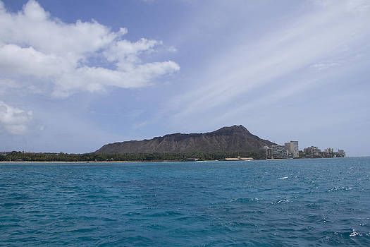 Diamond Head from Ocean by Ashlee Meyer