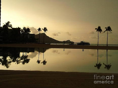 Diamond Head Reflection by Laura  Wong-Rose