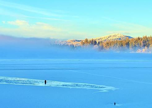 Diamond Lake Frozen by Vivian Markham